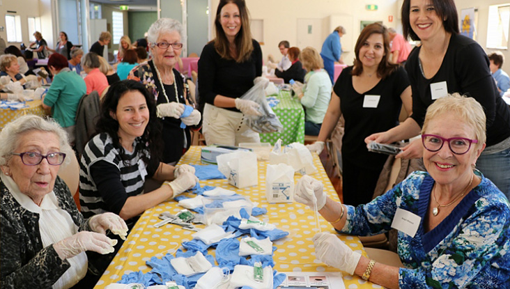 NSW Division hosted a Birthing Kit Packing Day