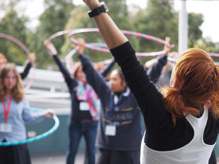 Hula Hooping - a fun break!