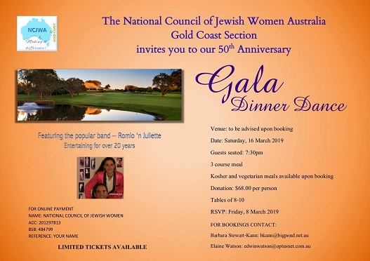 Gold Coast's upcoming 50th Anniversary Gala Dinner Dance!