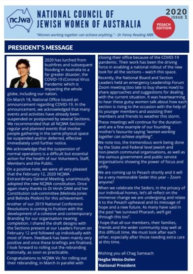 Newsletter Issue 1 2020
